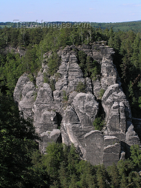 germany305: Germany - Saxony - Sächsische Schweiz / Saxon Switzerland - Elbe Sandstone Mountains and forest - Vertical rock formations - Elbsandsteingebirge - Free State of Saxony - Freistaat Sachsen - Swobodny Stat Sakska - photo by Juraj Kaman - (c) Travel-Images.com - Stock Photography agency - Image Bank