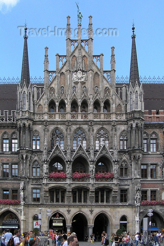 germany309: Germany - Bavaria - Munich / München: New Townhall / Neues Rathaus - photo by J.Kaman - (c) Travel-Images.com - Stock Photography agency - Image Bank