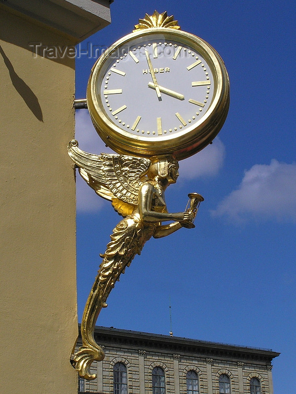 germany311: Germany - Bavaria - Munich / München: Golden clock - Huber - photo by J.Kaman - (c) Travel-Images.com - Stock Photography agency - Image Bank