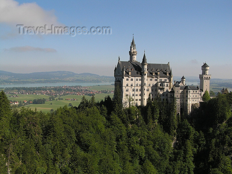 germany313: Germany - Bavaria: Neuschwanstein Castle and the forest - photo by J.Kaman - (c) Travel-Images.com - Stock Photography agency - Image Bank