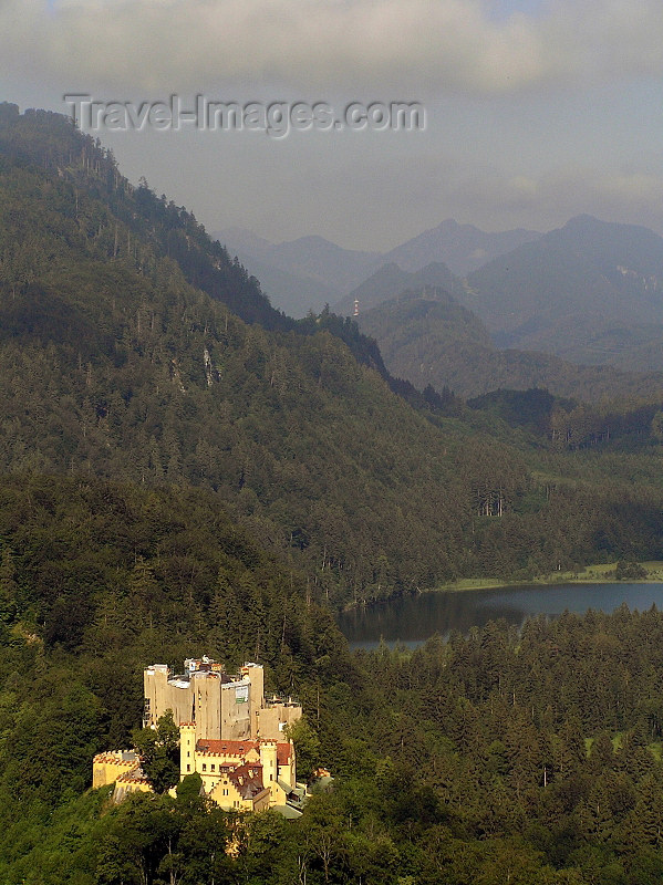 germany317: Germany - Bavaria - Schwangau - Füssen: Hohen Schwangau Castle - forest and lake - photo by J.Kaman - (c) Travel-Images.com - Stock Photography agency - Image Bank
