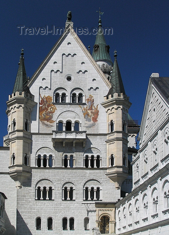 germany318: Germany - Bavaria: Neuschwanstein Castle - decoration - photo by J.Kaman - (c) Travel-Images.com - Stock Photography agency - Image Bank