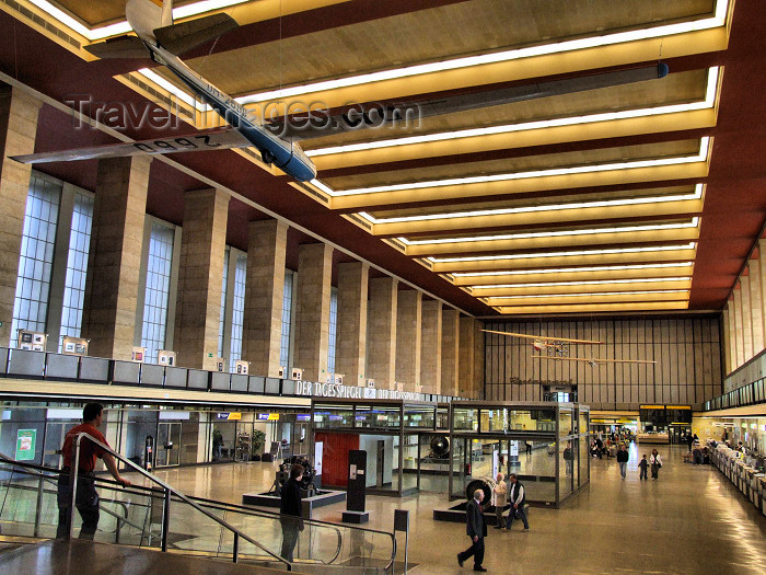 germany330: Germany - Berlin / THF: American eagle at Tempelhof International Airport - reminder of the American occupation of Europe - interior - Flughafen Tempelhof - Berlin Tempelhof - photo by M.Bergsma - (c) Travel-Images.com - Stock Photography agency - Image Bank