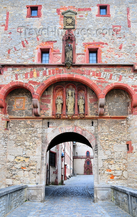germany342: Würzburg, Lower Franconia, Bavaria, Germany: Marienberg fortress - detail of the Scherenberg gate - photo by M.Torres - (c) Travel-Images.com - Stock Photography agency - Image Bank