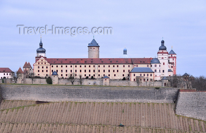 germany346: Würzburg, Lower Franconia, Bavaria, Germany: Marienberg fortress seen from Käppele hill - Festung Marienberg - photo by M.Torres - (c) Travel-Images.com - Stock Photography agency - Image Bank