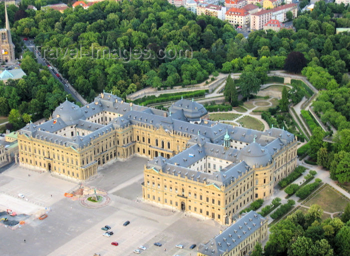 germany356: Würzburg, Lower Franconia, Bavaria, Germany: the Residenz - from the air - photo by D.Steppuhn - (c) Travel-Images.com - Stock Photography agency - Image Bank