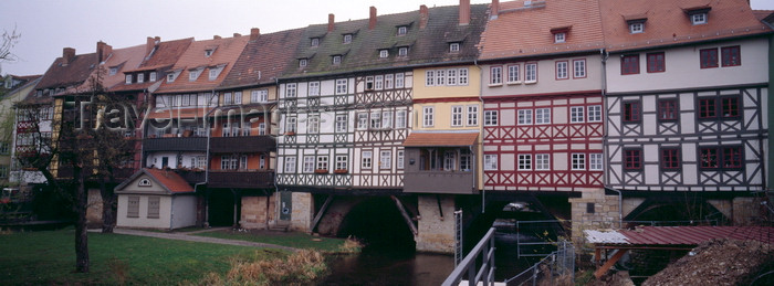 Erfurt Thuringia Germany Medieval Bridge Kramerbrucke