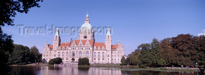 germany375: Hannover, Lower Saxony, Germany: New City Hall / Neues Rathaus seen from Machteich Lake - architects Hermann Eggert and Gustav Halmhuber - photo by A.Harries - (c) Travel-Images.com - Stock Photography agency - Image Bank
