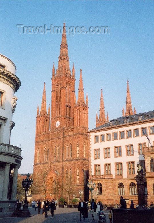 germany5: Germany / Deutschland - Wiesbaden (Hessen) / WIE : downtown - evangelische Marktkirche - Schloßplatz - architect: Karl Boos - photo by M.Torres - (c) Travel-Images.com - Stock Photography agency - Image Bank