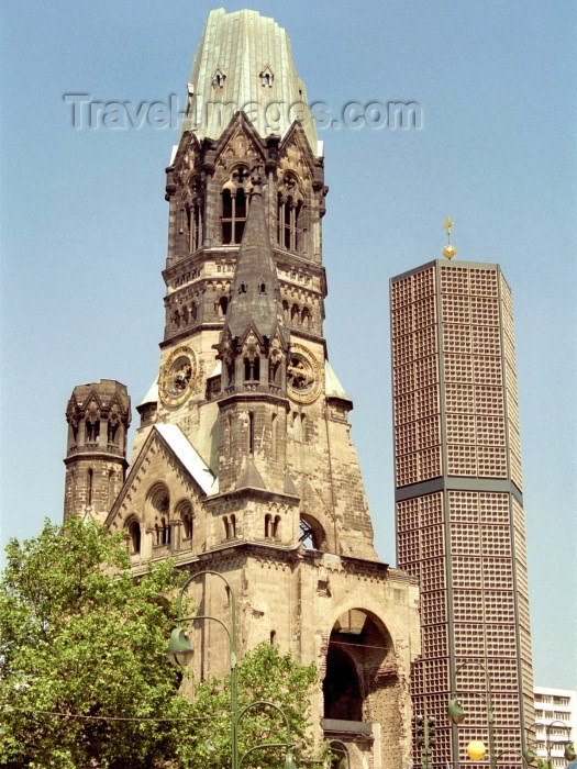 germany89: Germany / Deutschland - Berlin: Kaiser Wilhelm Memorial Church - Breitscheidplatz / Kurfürstendamm - Gedächtniskirche - architect Franz Schwechten - photo by M.Bergsma - (c) Travel-Images.com - Stock Photography agency - Image Bank