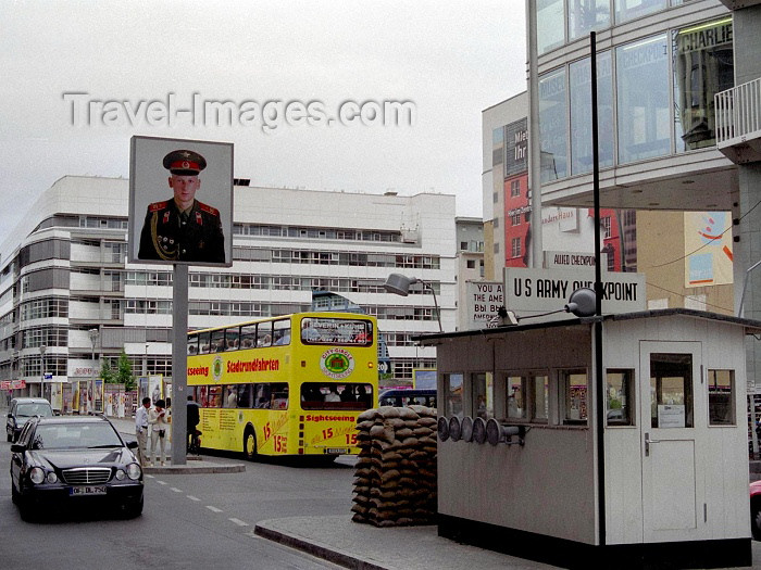 germany95: Germany / Deutschland - Berlin: Checkpoint Charlie - US Army hut - photo by M.Bergsma - (c) Travel-Images.com - Stock Photography agency - Image Bank