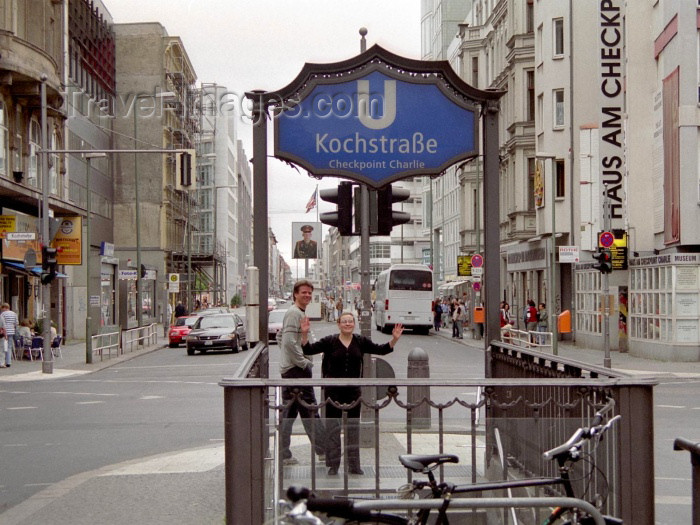 germany96: Germany / Deutschland - Berlin: Checkpoint Charlie - Kochstraße U-Bahn station - photo by M.Bergsma - (c) Travel-Images.com - Stock Photography agency - Image Bank