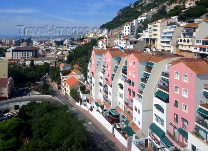 gibraltar upper town buildings on the hillside europa road