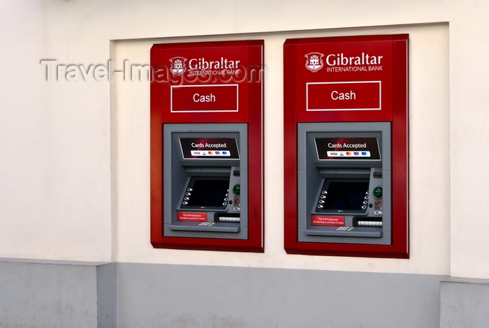 gibraltar68: Gibraltar: Gibraltar International Bank ATMs on Main Street - financial services are very developed in the territory - photo by M.Torres - (c) Travel-Images.com - Stock Photography agency - Image Bank