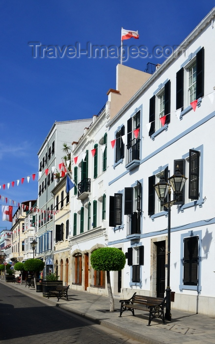gibraltar69: Gibraltar: buildings on Main Street - photo by M.Torres - (c) Travel-Images.com - Stock Photography agency - Image Bank
