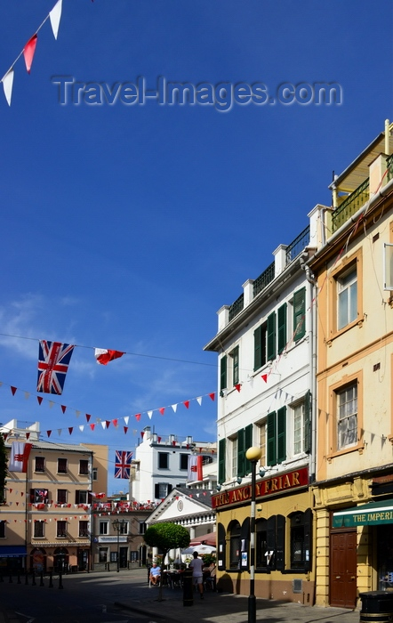 gibraltar73: Gibraltar: Main Street and Convent Place - photo by M.Torres - (c) Travel-Images.com - Stock Photography agency - Image Bank