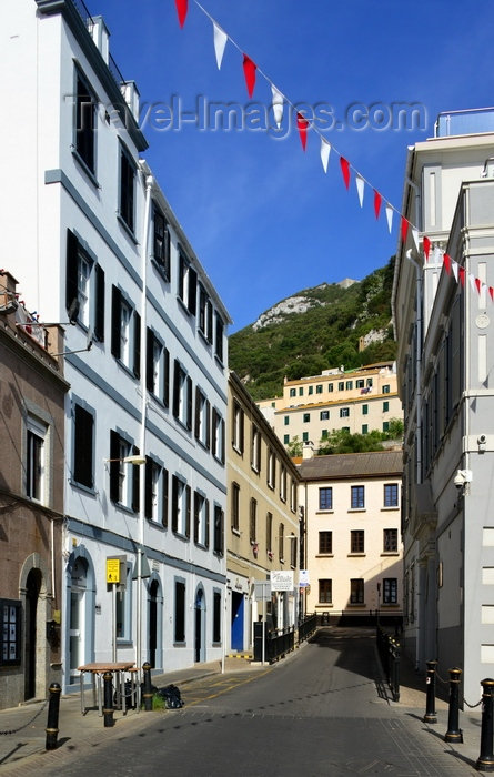 gibraltar77: Gibraltar: view along Convent Place towards the ridge of the rock - photo by M.Torres - (c) Travel-Images.com - Stock Photography agency - Image Bank