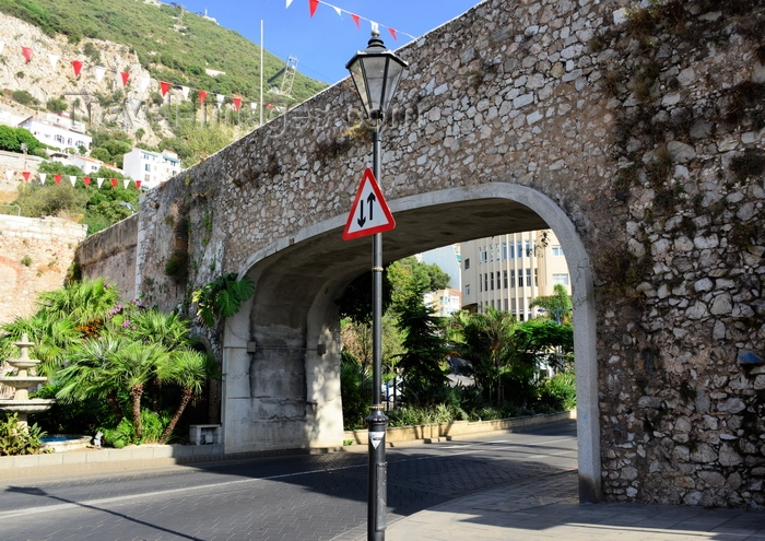 gibraltar99: Gibraltar: Southport Gates - photo by M.Torres - (c) Travel-Images.com - Stock Photography agency - Image Bank