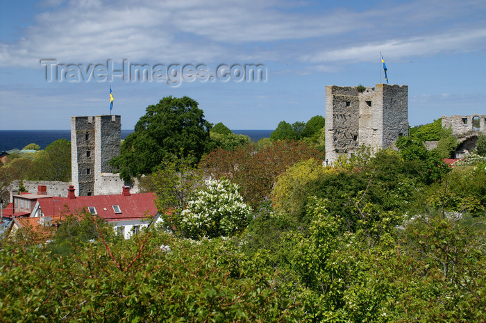gotland111: Gotland - Visby: eastern wall - photo by A.Ferrari - (c) Travel-Images.com - Stock Photography agency - Image Bank