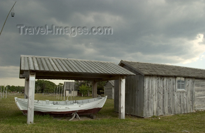 gotland15: Sweden - Gotland island / Gotlands län - Fårö island: boat shed on a fishing village - photo by C.Schmidt - (c) Travel-Images.com - Stock Photography agency - Image Bank
