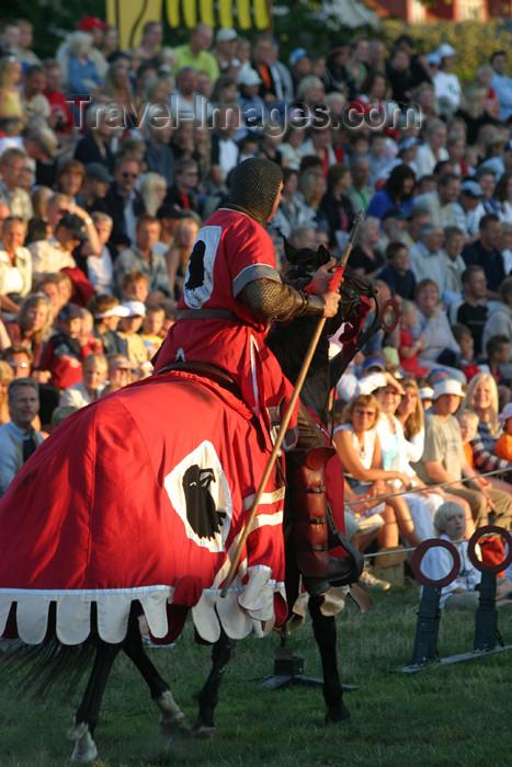 gotland22: Sweden - Gotland island / Gotlands län - Visby: Gutar horseman - medieval week - photo by C.Schmidt - (c) Travel-Images.com - Stock Photography agency - Image Bank