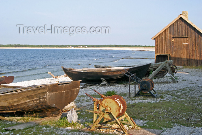 gotland47: Sweden - Gotland / Gotlands län - Fårö island / isle of Faro: old fishing village - photo by C.Schmidt - (c) Travel-Images.com - Stock Photography agency - Image Bank