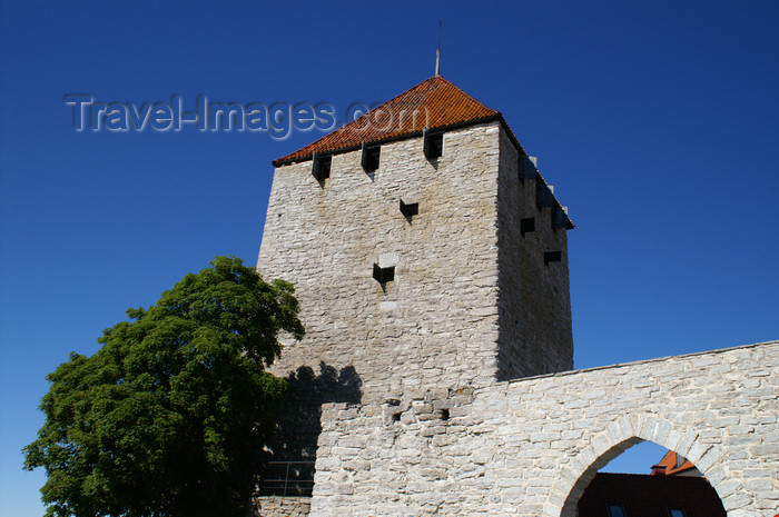gotland79: Gotland - Visby: the Gunpowder Tower on the western wall surrounding old Visby - ringwall - UNESCO World Heritage Site - Ringmuren - Kruttornet - photo by A.Ferrari - (c) Travel-Images.com - Stock Photography agency - Image Bank