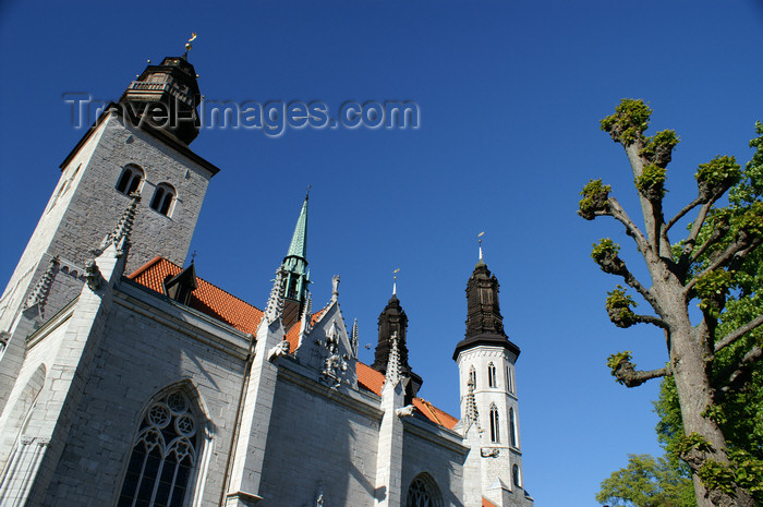 gotland96: Gotland - Visby: Sankta Maria Cathedral - 12th century - photo by A.Ferrari - (c) Travel-Images.com - Stock Photography agency - Image Bank