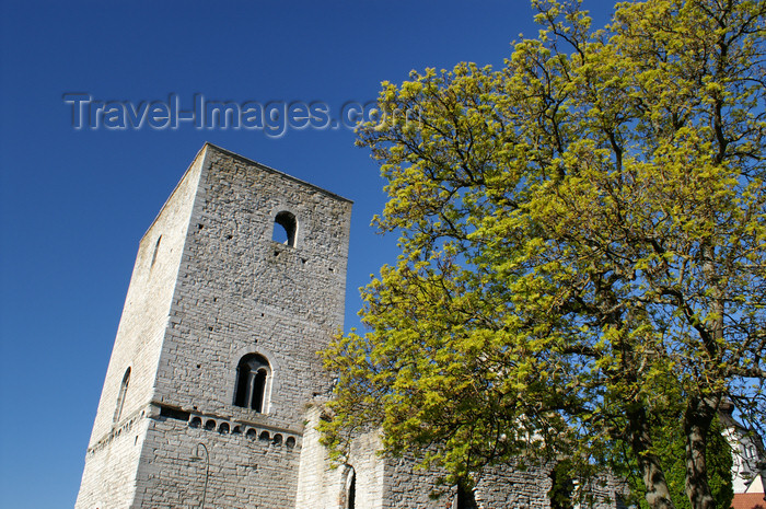 gotland97: Gotland - Visby: old church near Stora Torget - photo by A.Ferrari - (c) Travel-Images.com - Stock Photography agency - Image Bank