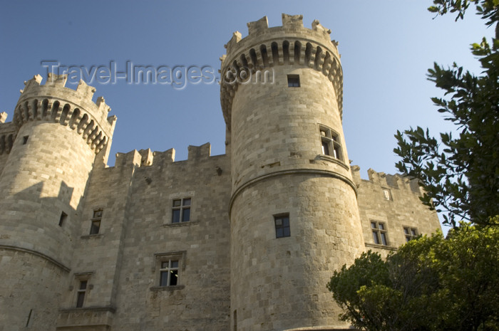 greece346: Greece, Dodecanese Islands, Rhodes: Palace of the Masters, Old Town. - (c) Travel-Images.com - Stock Photography agency - Image Bank