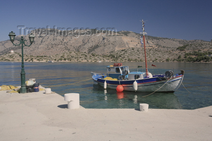 greece441: Greek islands - Dodecanes archipelago - Symi island - Panormitis - on the quay - photo by A.Stepanenko - (c) Travel-Images.com - Stock Photography agency - Image Bank