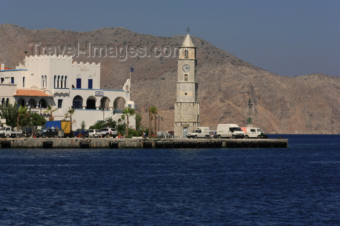 greece442: Greek islands - Greek islands - Dodecanese archipelago - Symi island - Symi town / Ano Symi: the waterfront- Aegean Sea - photo by A.Dnieprowsky - (c) Travel-Images.com - Stock Photography agency - Image Bank
