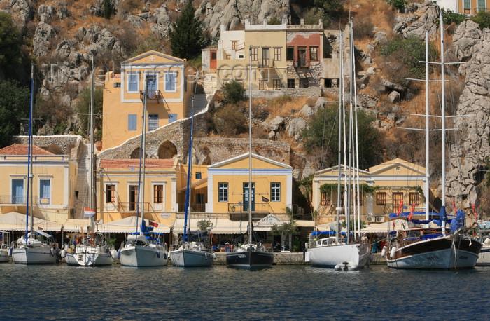 greece448: Greek islands - Dodecanes archipelago - Symi island - Symi town - yachts - photo by A.Stepanenko - (c) Travel-Images.com - Stock Photography agency - Image Bank