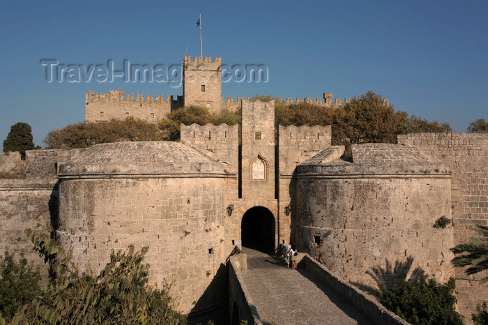 greece463: Greece - Rhodes island - Rhodes city - Old Town - D'Aboise gate - photo by A.Stepanenko - (c) Travel-Images.com - Stock Photography agency - Image Bank