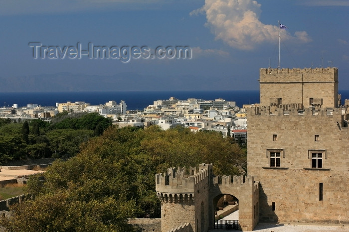 greece465: Greece - Rhodes island - Rhodes city - St George's Tower view of Grand Masters Palace - photo by A.Stepanenko - (c) Travel-Images.com - Stock Photography agency - Image Bank