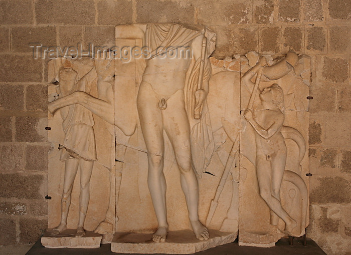 greece472: Greece - Rhodes island - Rhodes city - Grand Masters Palace - Hellenistic sculpure - photo by A.Stepanenko - (c) Travel-Images.com - Stock Photography agency - Image Bank