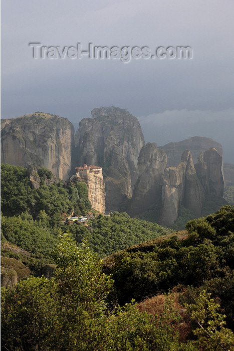 greece479: Greece - Meteora: Holy Monastery of Rousanou and surrounding area - UNESCO World Heritage Site - photo by A.Dnieprowsky - (c) Travel-Images.com - Stock Photography agency - Image Bank