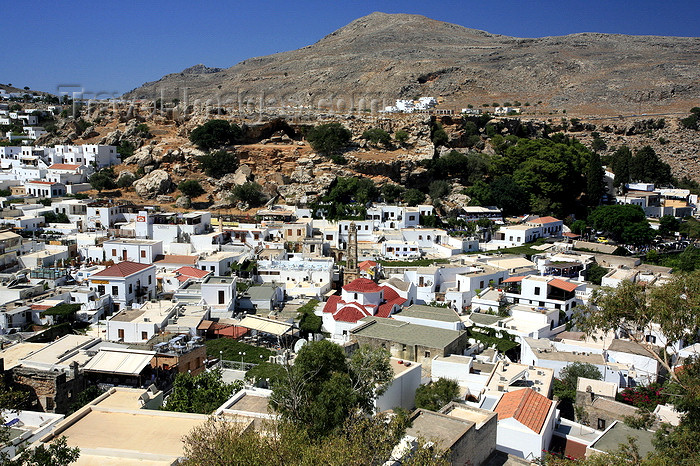 greece84: Greece - Rhodes island - Lindos - from above - dressed in white - photo by A.Stepanenko - (c) Travel-Images.com - Stock Photography agency - Image Bank