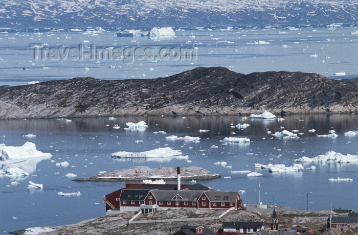 greenland53: Greenland - Ilulissat / Jakobshavn - the hospital - photo by W.Allgower - (c) Travel-Images.com - Stock Photography agency - Image Bank