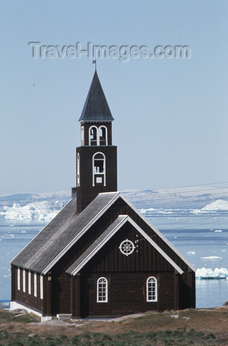 greenland62: Greenland - Ilulissat / Jakobshavn - the Zion church, built in 1782 - it was shifted in 1930 to this location, beforeit stood 50 m closer to the shore - photo by W.Allgower - (c) Travel-Images.com - Stock Photography agency - Image Bank