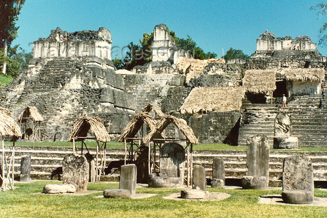 guatemala27: Guatemala - Tikal National Park - El Petén department: Mayan temple pyramids - Unesco world heritage site (photographer: G.Frysinger) - (c) Travel-Images.com - Stock Photography agency - Image Bank