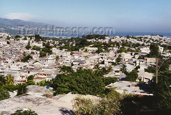 haiti21: Haiti - Port au Prince: the city and the Gonâve Gulf (photo by G.Frysinger) - (c) Travel-Images.com - Stock Photography agency - Image Bank
