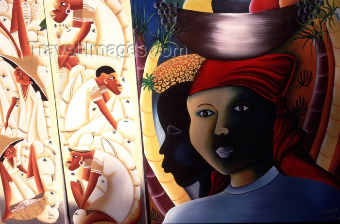 haiti3: Haiti - Labadee: Haitian art- painting (photo by Francisca Rigaud) - (c) Travel-Images.com - Stock Photography agency - Image Bank