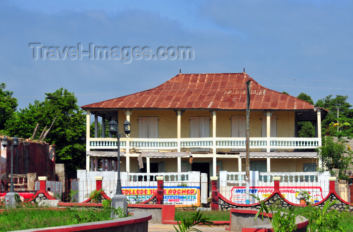 haiti48: Ouanaminthe / Juana Mendez, Nord-Est Department, Haiti: private school on the central square - College sur le Rocher - photo by M.Torres - (c) Travel-Images.com - Stock Photography agency - Image Bank