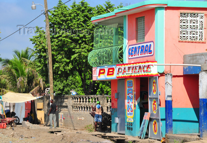 haiti50: Ouanaminthe / Juana Mendez, Nord-Est Department, Haiti: bank and lottery agency - PB Patience - photo by M.Torres - (c) Travel-Images.com - Stock Photography agency - Image Bank