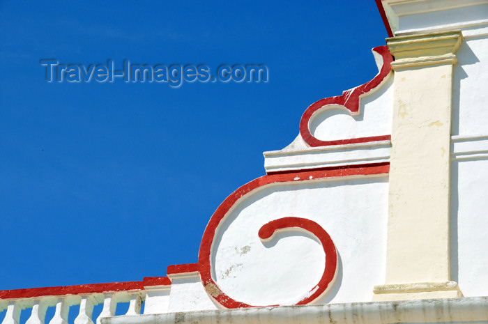 haiti63: Fort-Liberté, Nord-Est Department, Haiti: Cathedral of St Joseph - gable detail - Place d'Armes - photo by M.Torres - (c) Travel-Images.com - Stock Photography agency - Image Bank