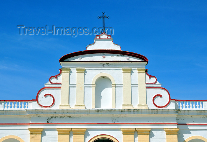 haiti72: Fort-Liberté, Nord-Est Department, Haiti: Cathedral of Saint Joseph - gable - Place d'Armes - photo by M.Torres - (c) Travel-Images.com - Stock Photography agency - Image Bank