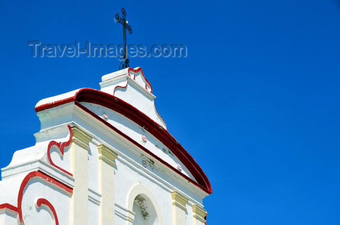 haiti75: Fort-Liberté, Nord-Est Department, Haiti: Cathedral of Saint-Joseph - gable and cross - Place d'Armes - photo by M.Torres - (c) Travel-Images.com - Stock Photography agency - Image Bank