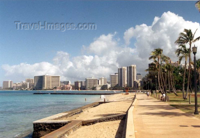 hawaii24: Oahu island: Waikiki beach - photo by P.Willis - (c) Travel-Images.com - Stock Photography agency - Image Bank