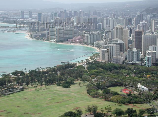 hawaii28: Hawaii - Oahu island - Honolulu: from Diamond head - photo by P.Soter - (c) Travel-Images.com - Stock Photography agency - Image Bank